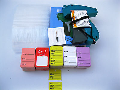 Avery Dennison Regular Tagging Gun +1000 Barbs + 500 Mix Price Tag +1 Ex Needle