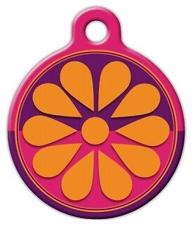 FLOWER BOX LUPINE PATTERN - Custom Personalized Pet ID Tag for Dog Cat Collars