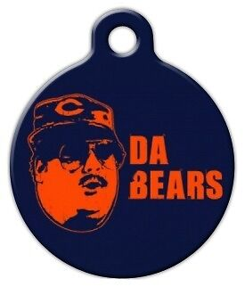 9242d41427e DA BEARS - CHICAGO BEARS - Custom Personalized Pet ID Tag for Dog and Cat  Collar
