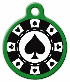 POKER CHIP - Custom Personalized Pet ID Tag for Dog and Cat Collars
