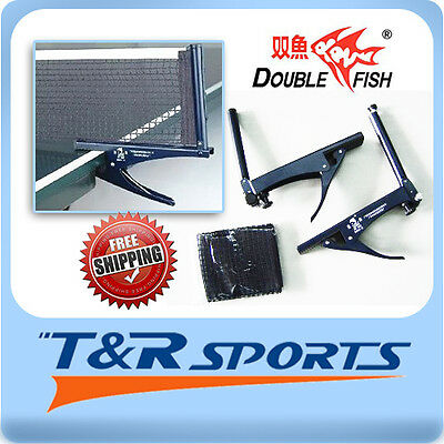 New! Double Fish Table Tennis / Ping Pong Clamp Net & Post Set Rrp$29