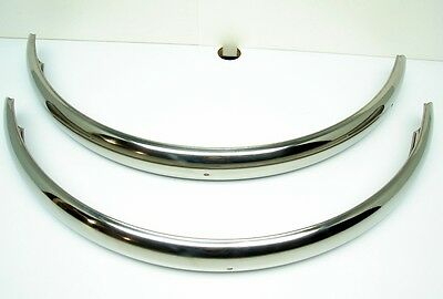 "Vintage NOS Balloon Fat Tire Stainless Steel Bicycle 24"" Chrome Fender Set"