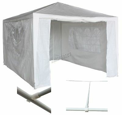 Waterproof White 3m x 4m Outdoor Garden Gazebo Party Tent Marquee Awning Canopy