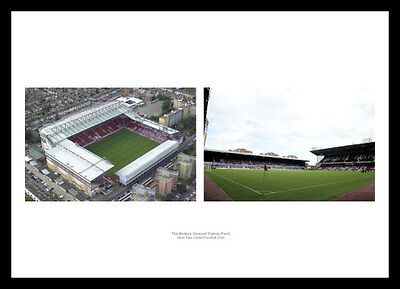 West Ham United Upton Park Stadium & Aerial View Photo Memorabilia (WHMU1)