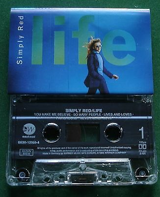 Simply Red Life inc You Make Me Believe + Cassette Tape - TESTED