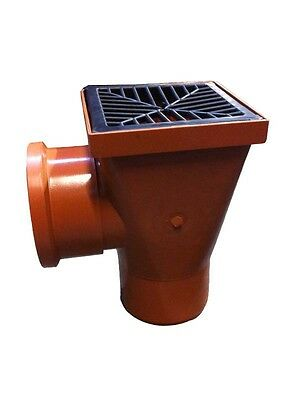110mm Underground Drainage Back Inlet Gully Head Incl Plastic Grid