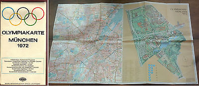 Orig.Guide / big Card with programme   XX.Olympic Games MÜNCHEN 1972  !!  RARE