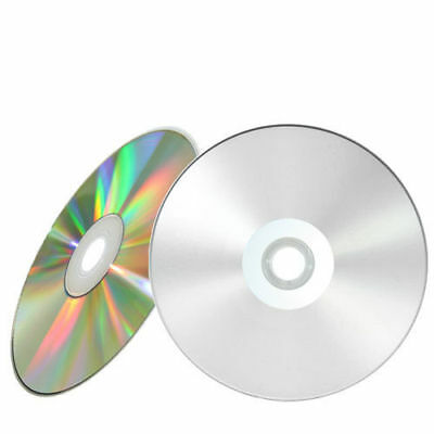 10 Pieces 52X Blank Silver Inkjet HUB Printable CD-R Disc with Paper Sleeves