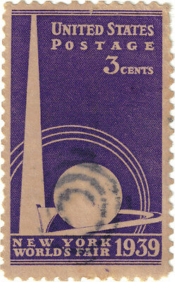 (USA195) 1939 3c violet NY world fair SG850