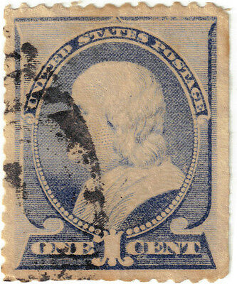 (USA2) 1882 1c blue Franklin ow217