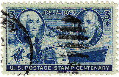 (USA273) 1947 3c blue US postage stamp centenary ow944