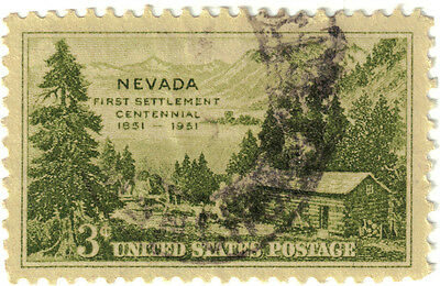(USA319) 1951 3c olive log cabin ow996