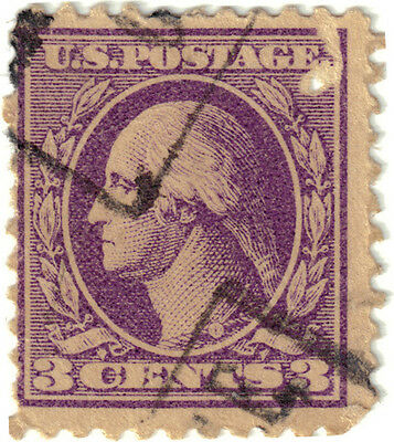 (USA47) 1908 3c violet Washington ow537