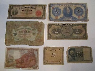 Collection Of 7 Old Currency Notes - World Wide - Nice -