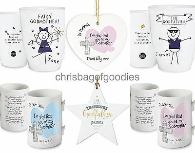 Gifts For GODPARENTS GODMOTHER Keepsake Godfather Present CHRISTENING Our My
