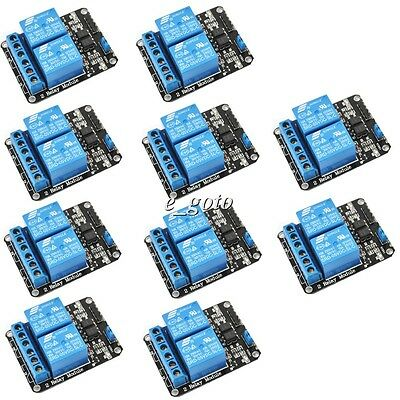 10pcs 5V 2 Channel Relay Module for Arduino PIC ARM DSP AVR Electronic Raspberry