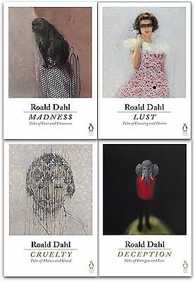 Roald Dahl 4 Books Collection Set Deception, Madness, Cruelty, Lust (Adult)