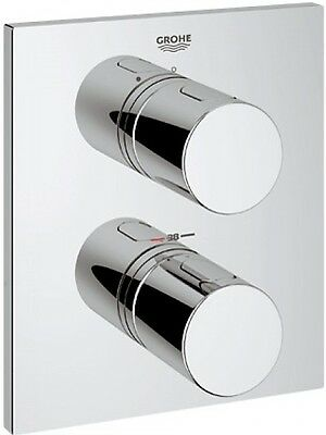 GROHE 19567 Grohtherm 3000 Cosmopolitan Thermostatic Mixer Trim Set, 2 Outlets