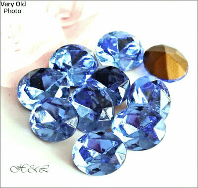 Swarovski Light Sapphire Blue Gold Foiled OVAL CRYSTAL RHINESTONES 4130/2 Repair