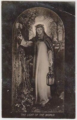 (R7-39)1910 GB religious postcard  light of the world