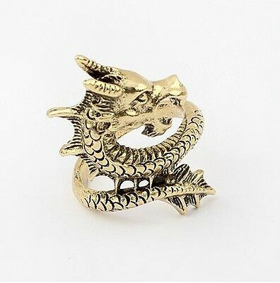 Adjustable Tibetan copper alloy dragon Amulet Ring