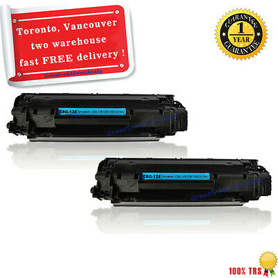 2 Black 128 for Canon 128 Toner Cartridge MF4770n MF4880dw MF4890dw MF4450 D550