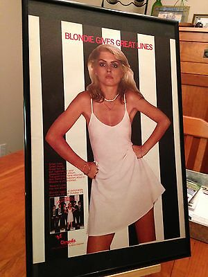1 BIG 11X17 FRAMED BLONDIE HEART OF GLASS LP ALBUM CD PROMO AD - choose from 7!