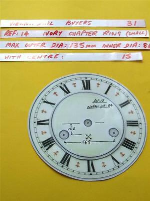 Buyers Ref:B1  Replacement laminate Ivory  Small springer Clock Dial option 31