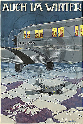Repro Affiche Avion Auch Im Winter Bfk Rives 310Grs