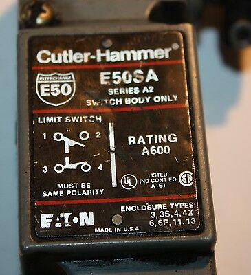 Cutler Hammer E50SA Series A2 Switch adjustable arm lengt Limit Switch
