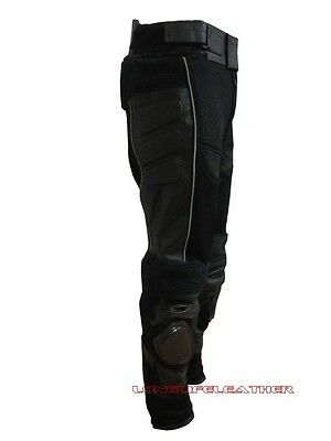 Men's Mesh Leather Racing Motorcycle Pant W/Knee Sliders Armor New Size 28 to 44