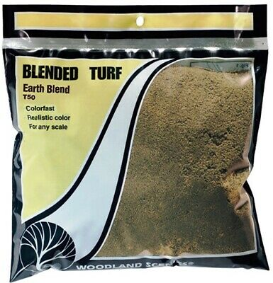 Woodland Scenics T60 Coarse Earth Turf Colourfast New 412cm3 Pack 1st Class Post