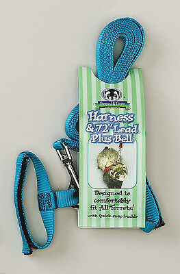 Ferret Harness w/ Bell &  72 inch Lead - Sheppard & Greene Harness