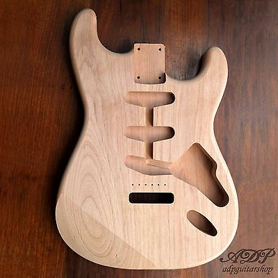 CORPS AULNE STRATOCASTER NON PONCE UNFINSHED Strat Guitar Body Alder 2Pc ToSand