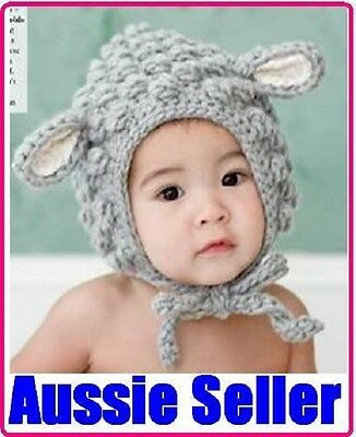 Baby Boy Girl Crochet Animal Beanie Costume Hat Cute Cap Great Baby Gift!