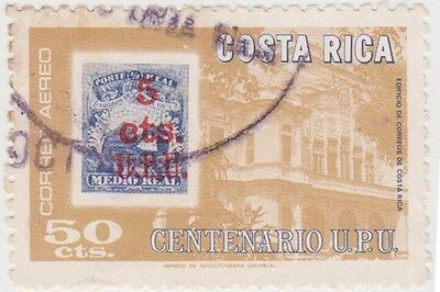 (CR121)1976 Costa Rica 50c multicoloured emblems ow104