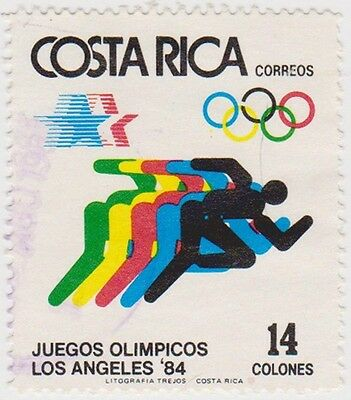 (CR139) 1984 Costa Rica 14col Olympic running ow1353