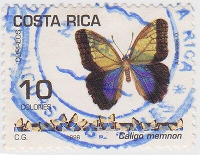 (CR158) 1998 Costa Rica 10col butterflies ow1635