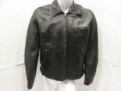 60s Vintage Made In England Motorcycle Café Racer Rider Buckle Leather Jacket