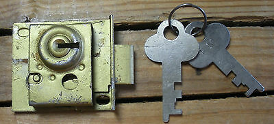 Vintage Chest, Cabinet, Drawer Lock Old with Original Key