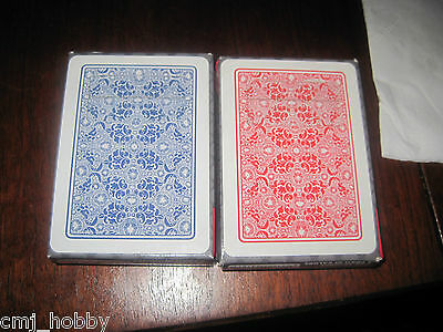 Dal Negro Torcello 100% plastic cards Red/Blue Poker Size 4 Pip Index w/ case