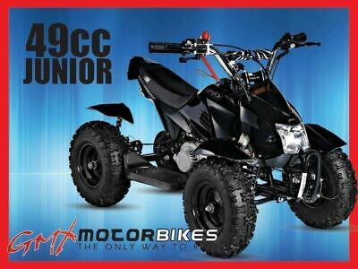 Gmx 49Cc Junior Mini Quad Bike Atv Kids Electric Start 4 Wheel Pocket Bike Black