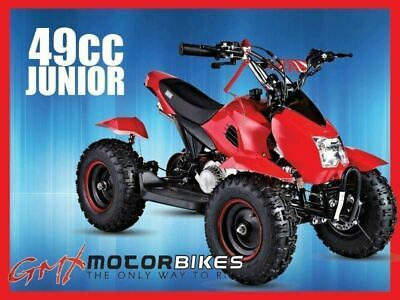 Gmx 49Cc Junior Mini Quad Bike Atv Kids Electric Start Pocket Bike 4 Wheeler Red
