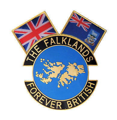 Falkland Islands War Conflict FOREVER BRITISH Army Navy RAF Pin Badge