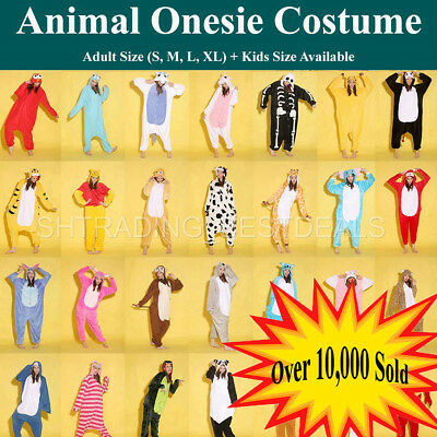 Kigurumi Adult Unisex Fleece Animal  Costumes Playsuit Pajamas Cosplay Sleepwear