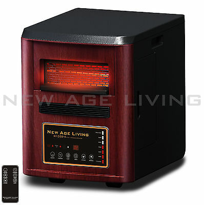 1500w Infrared Quartz Electric Portable Room Space Heater Air Purifier Remote ;