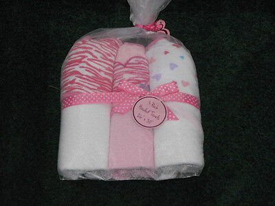 Baby Kiss Set of 3 Hooded Towels - Heart