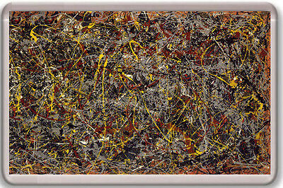 Jackson Pollock - Number 5 - 1948 Fridge Magnet Iman Nevera