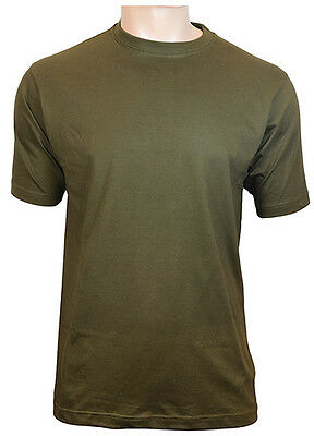 US Style BDU T-Shirt - Olive Green 100% Cotton Army Military Top New