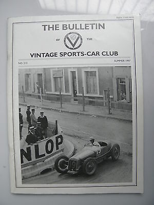 The bulletin of the Vintage Sports-Car Club. No.215 Summer 1997